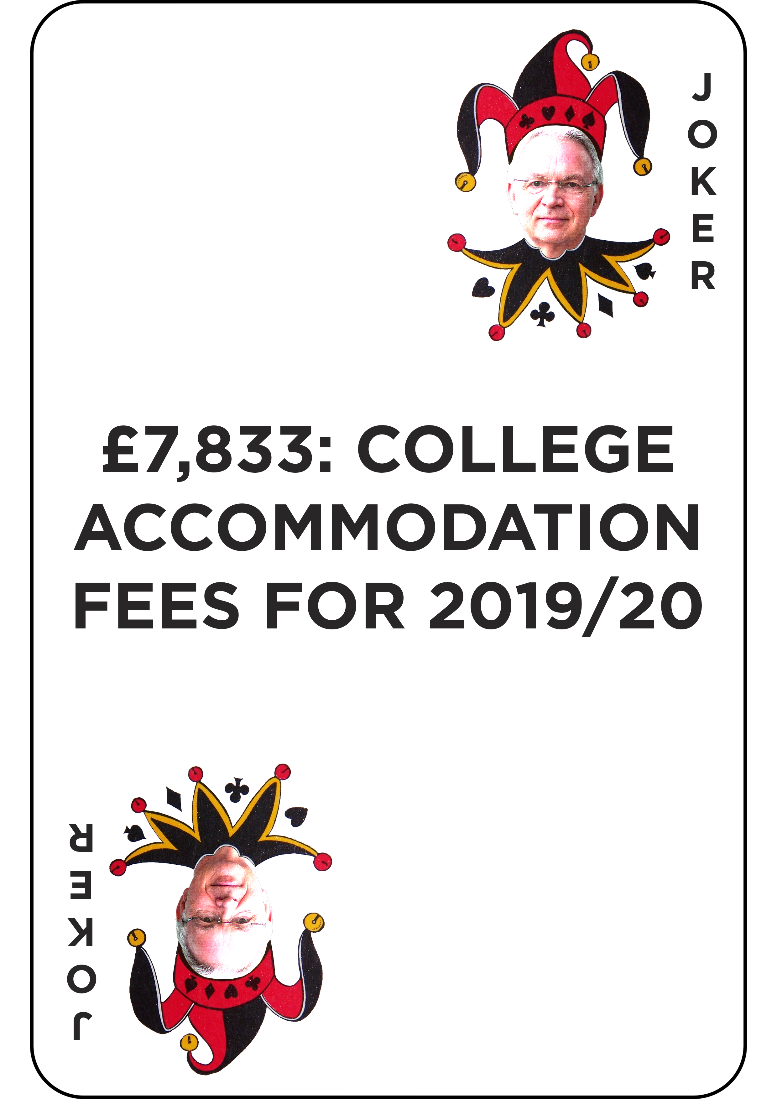 £7,883: college accommodation fees for 2019/20