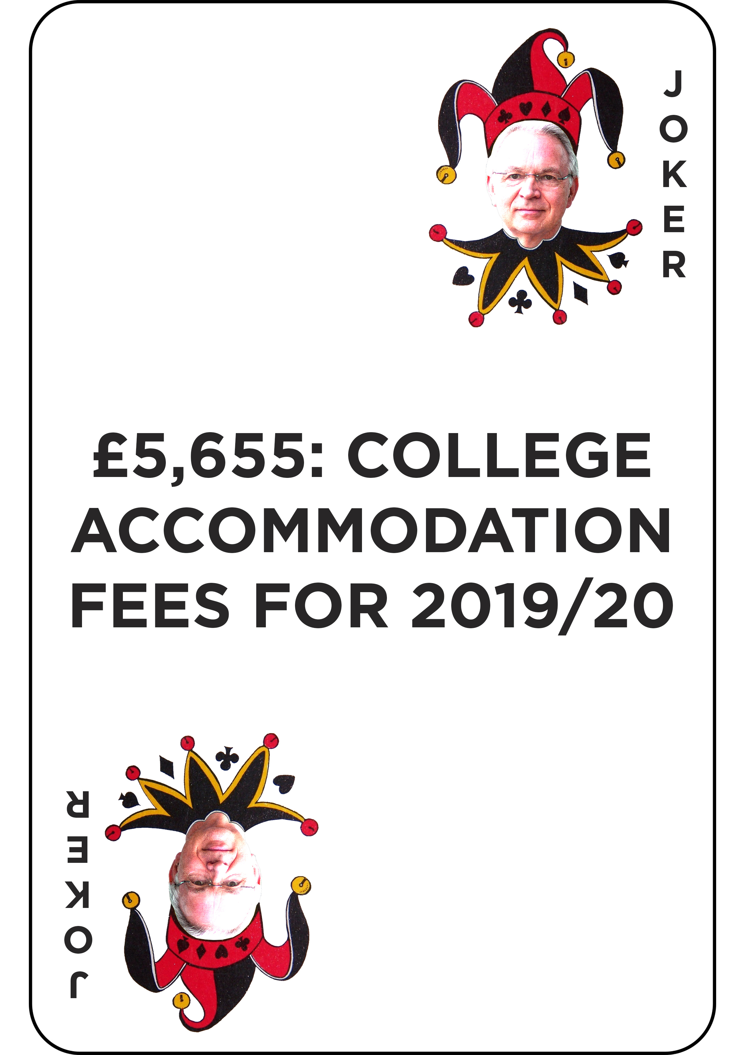 £5,655: college accommodation fees for 2019/20