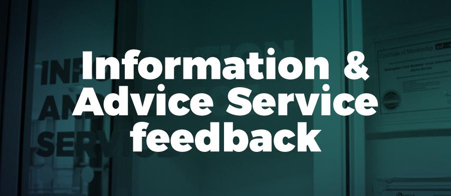 Information & Advice feedback