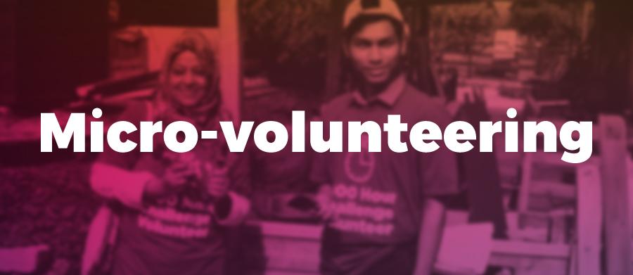Micro-volunteering