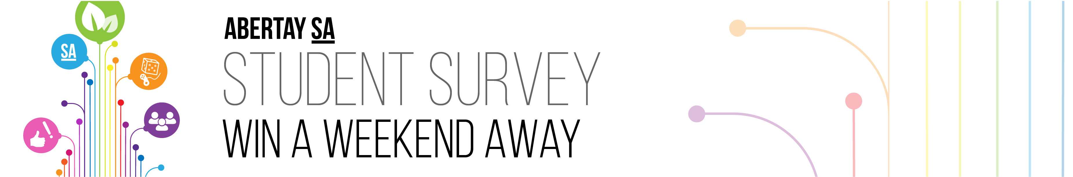 AbertaySA: Student Survey. Enter for a chance to win a weekend away.