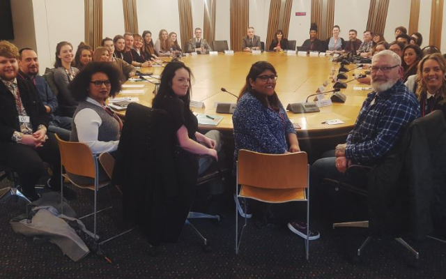 Student officers from across Scotland meeting with Scottish Government Ministers at the student roundtable
