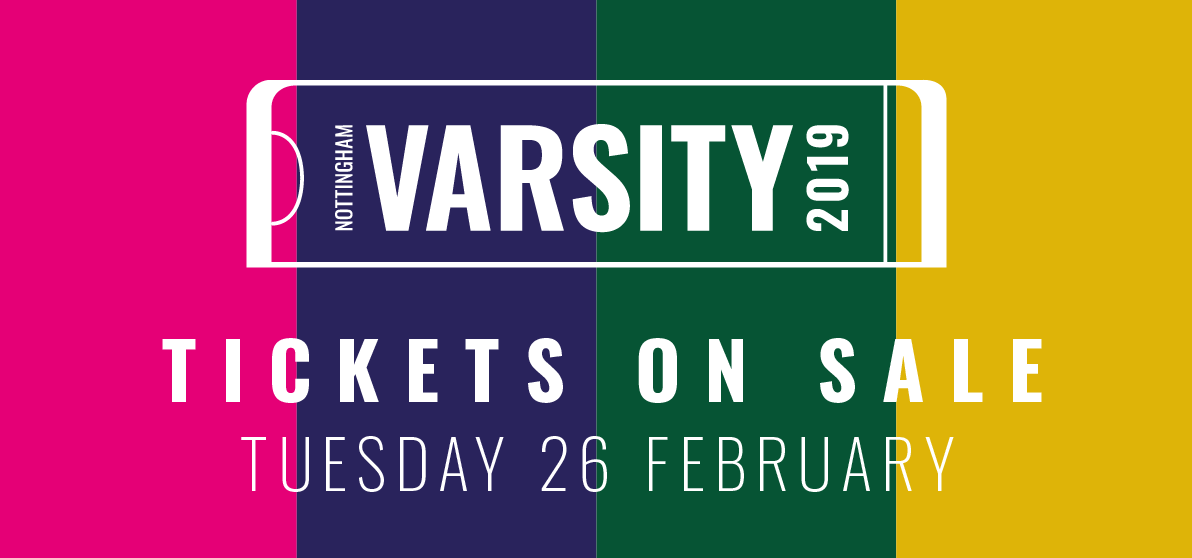 Varsity 2019 Tickets on sale 26th February