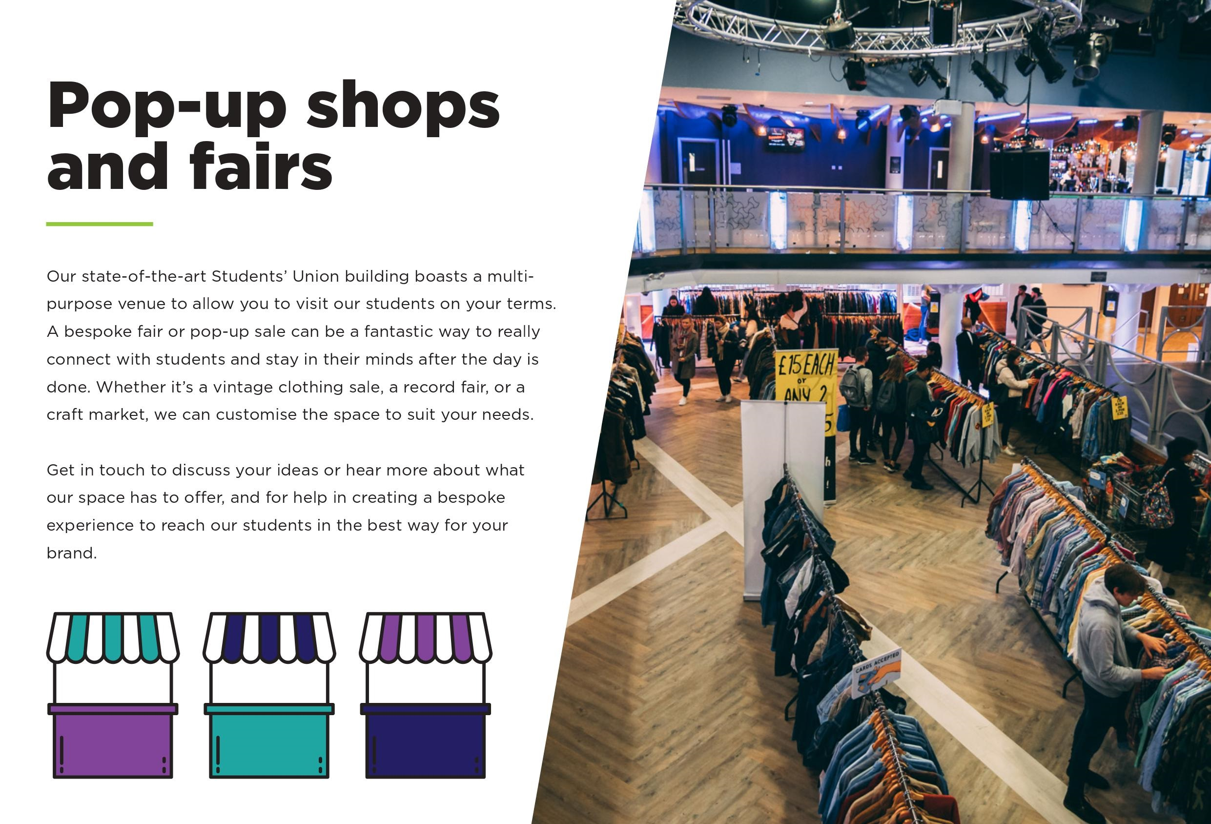 Popup shops and fairs