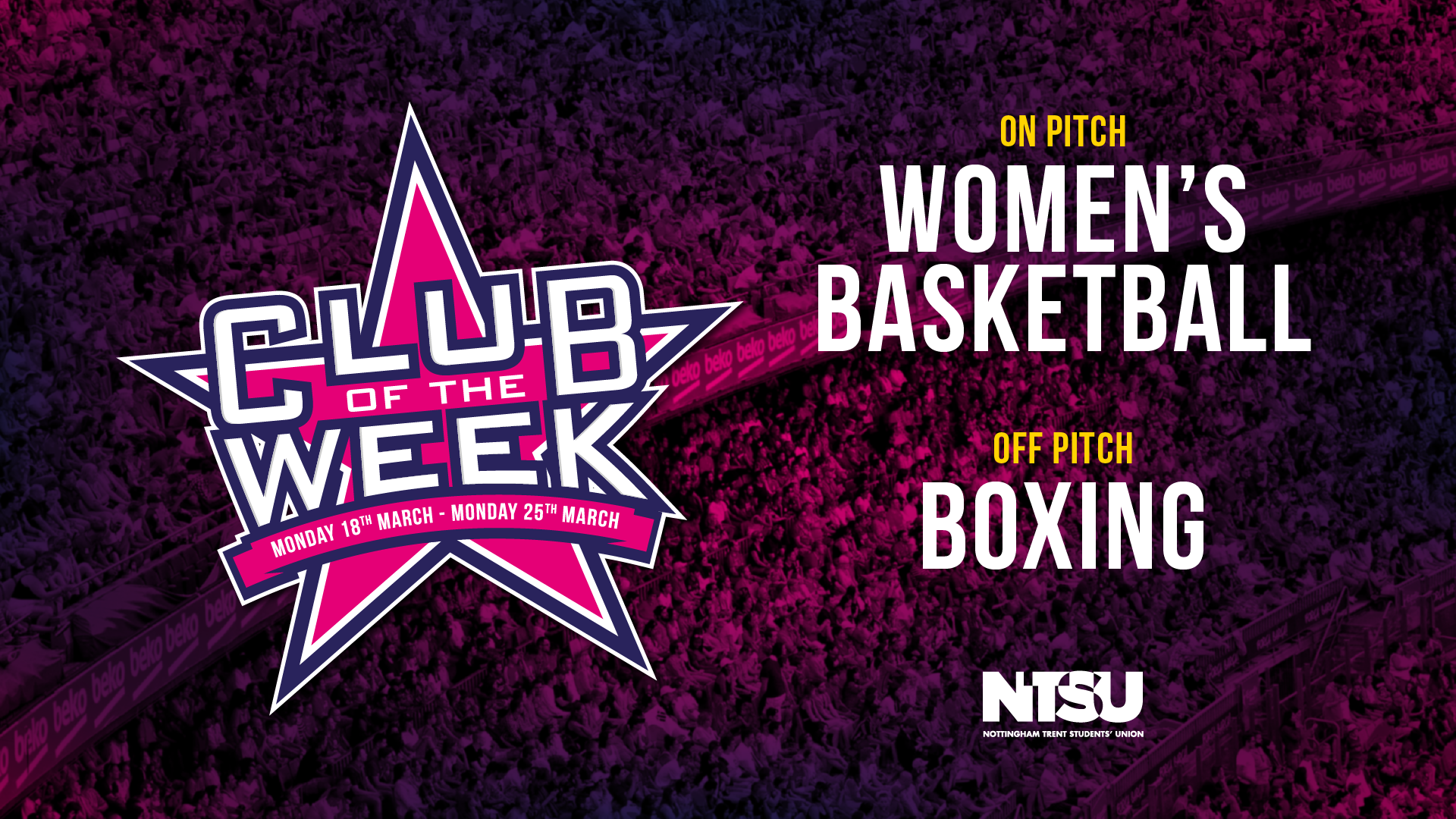 On pitch Boxing Off pitch women's Basketball