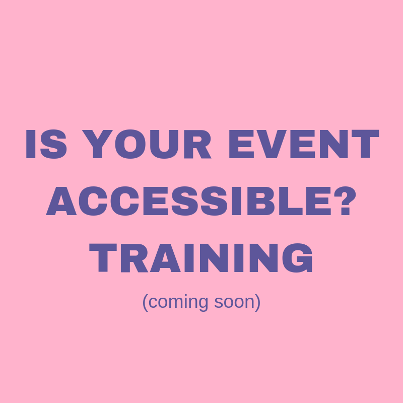 Is your event accessible? Training