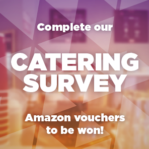 Complete our catering survey. Amazon vouchers to be won