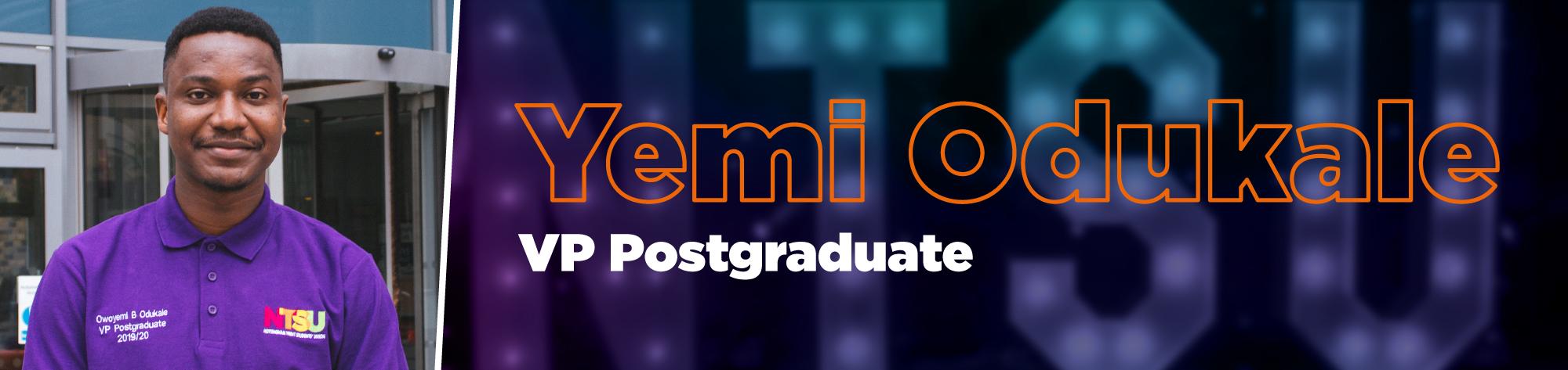 Yemi Odukale - VP Postgraduate