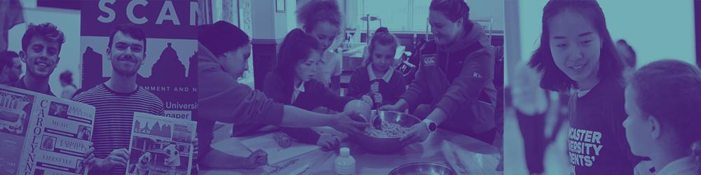 Photo of students taking part in volunteering opportunities