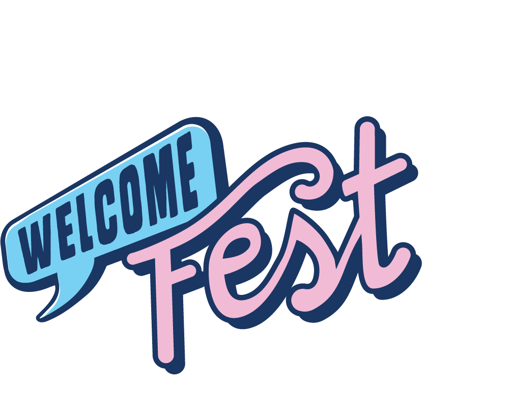 Image of the Welcome Fest 2019 Logo. Click to return to the Welcome Fest Homepage