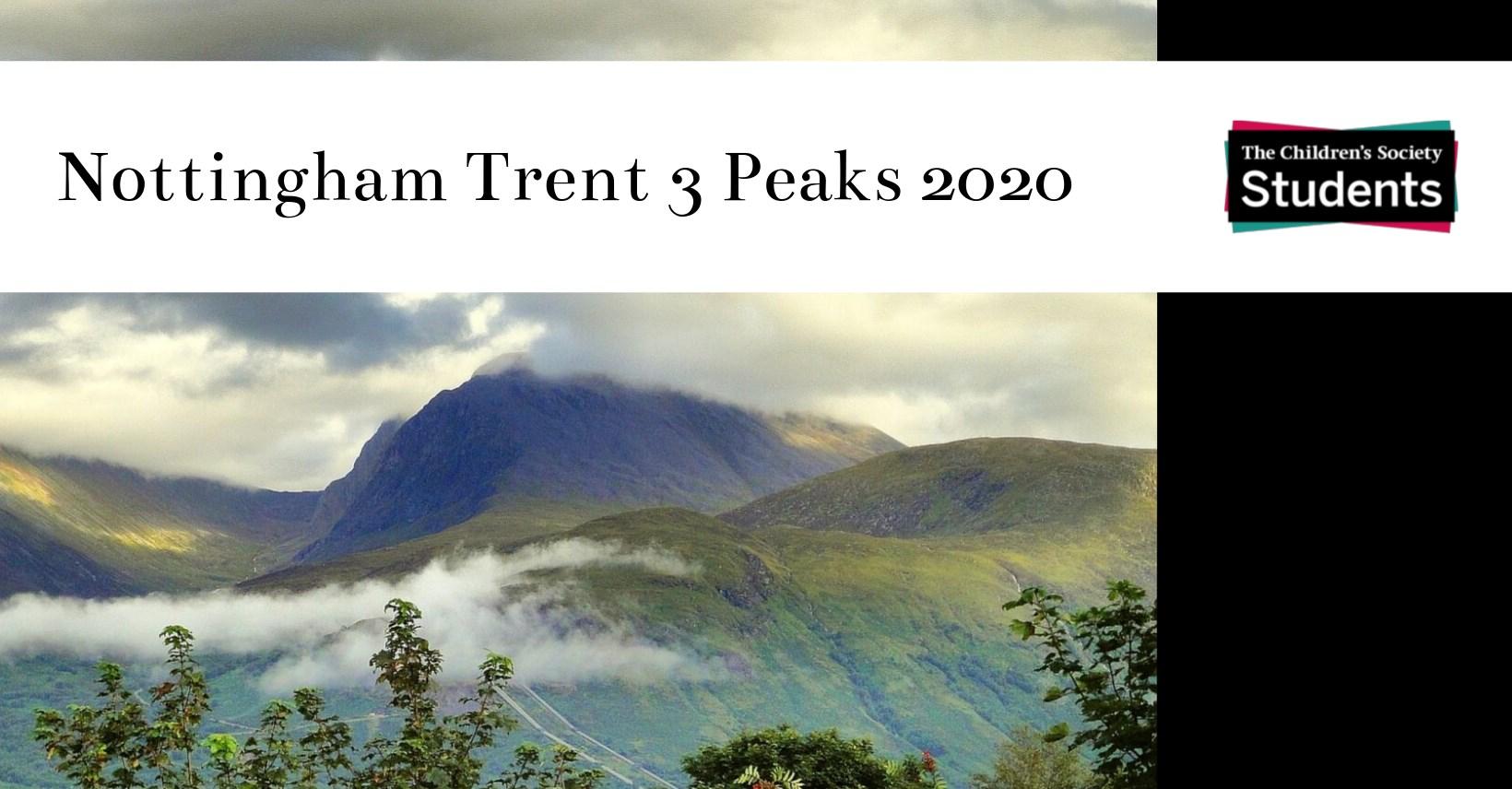 Nottingham Trent 3 Peaks 2020 - The Children's Society Students