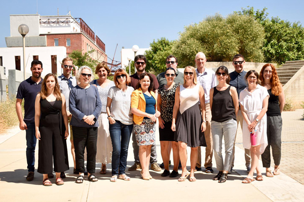 Photo of SAVES2 partners at steering group meeting in Crete