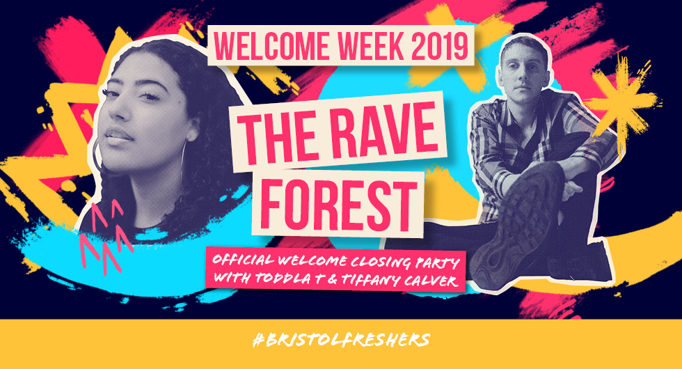 Welcome Week 2019.  The Rave Forest with Toddla T and Tiffany Calver at Motion, Bristol. Buy Your Ticket Now.