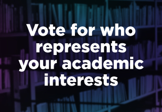 Vote for who represents your academic interests