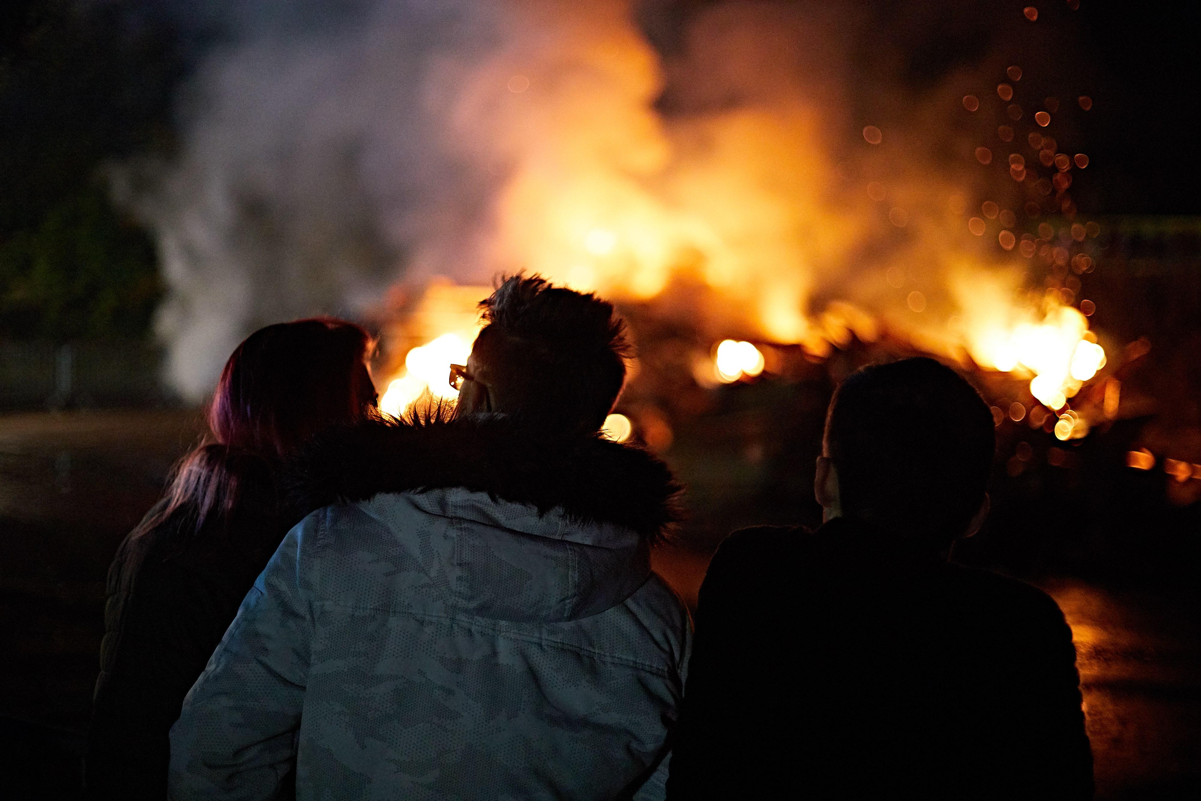 Having a good time at Bonfire Night