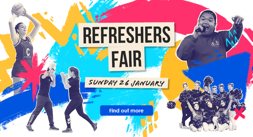 Refreshers Fair Sunday 26 January. Find out more.
