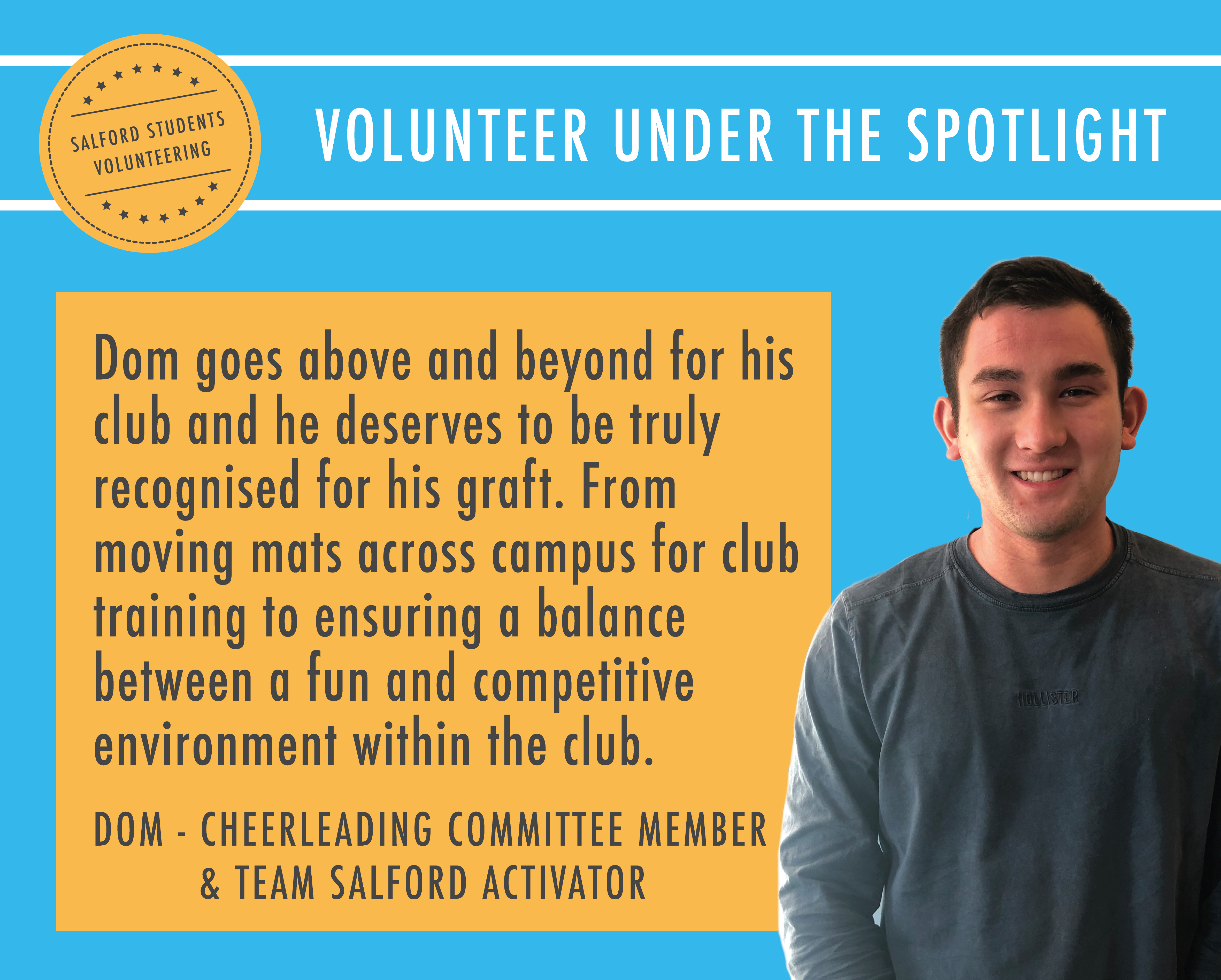 Dom Young - Team Salford Activator