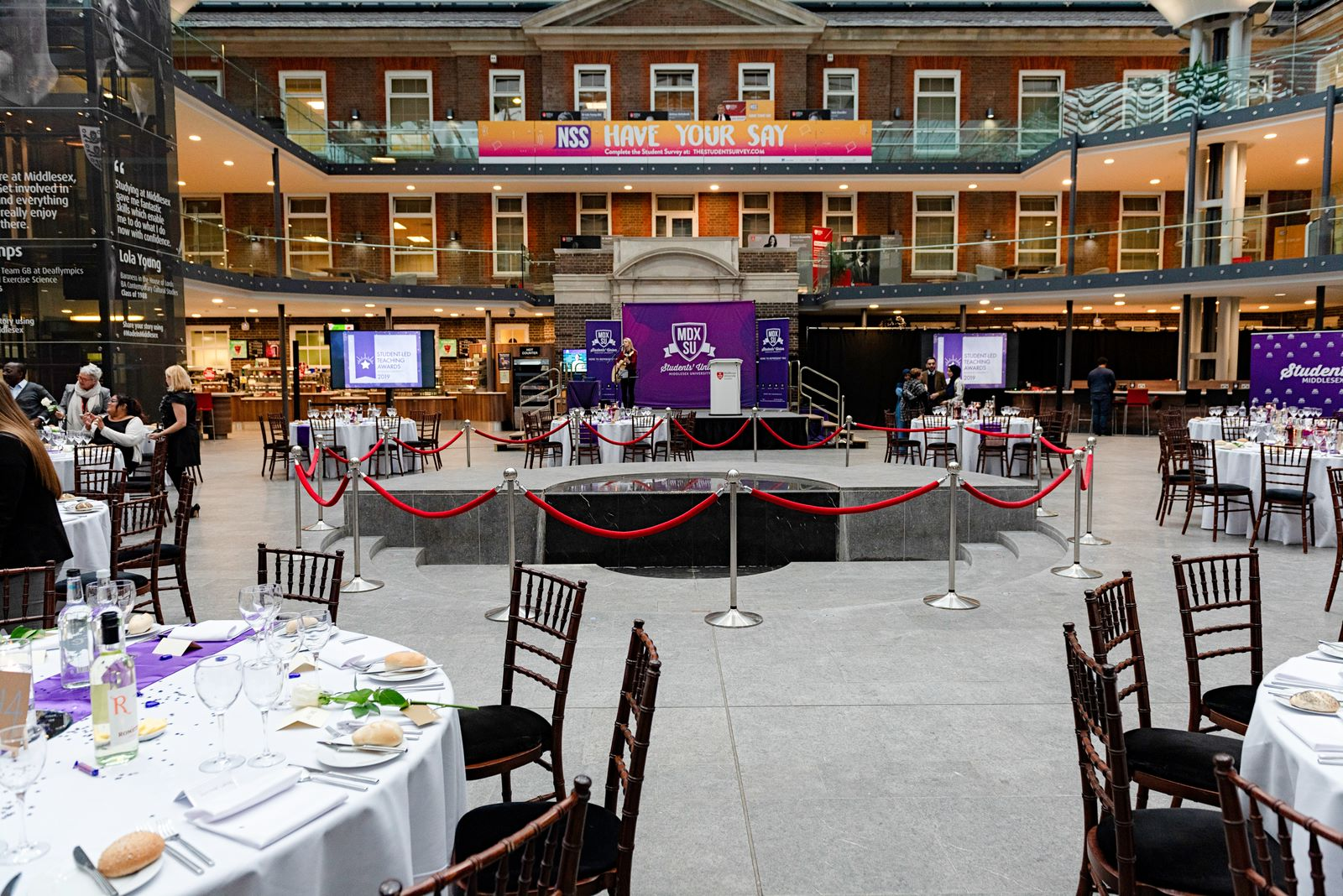 The Quad set up for an awards ceremony