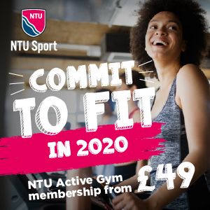 Commit to fit in 2020. NTU active gym membership from £49