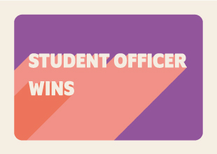Student officer wins