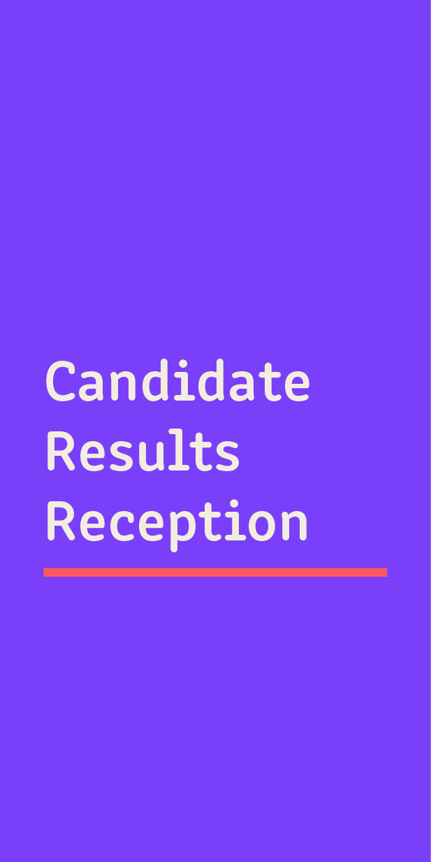 Candidate Results Reception