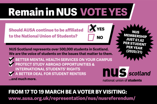 AUSA: Remain in NUS, Vote Yes!