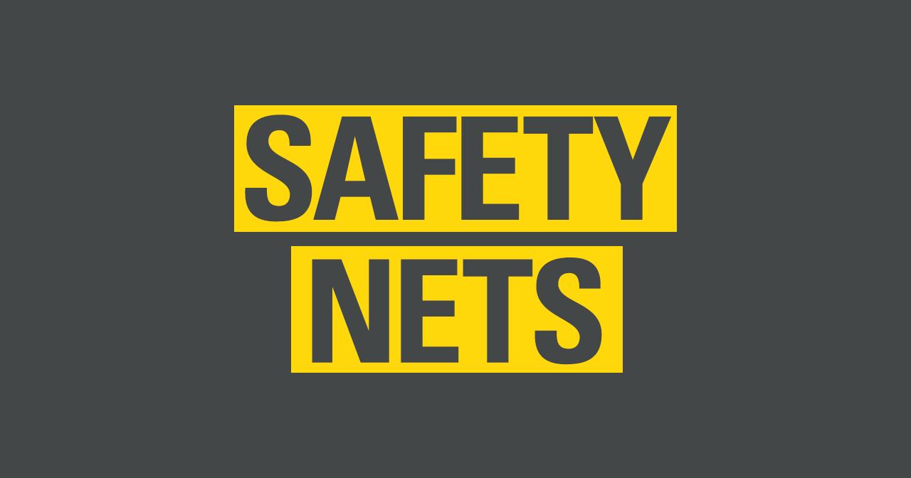 Safety net trapeze cartoon drawing