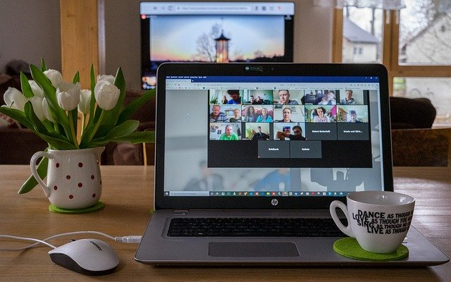 Remote working via video conferece