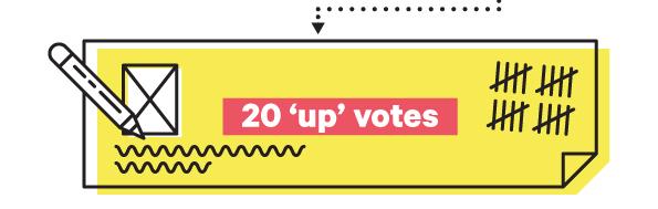20 up votes