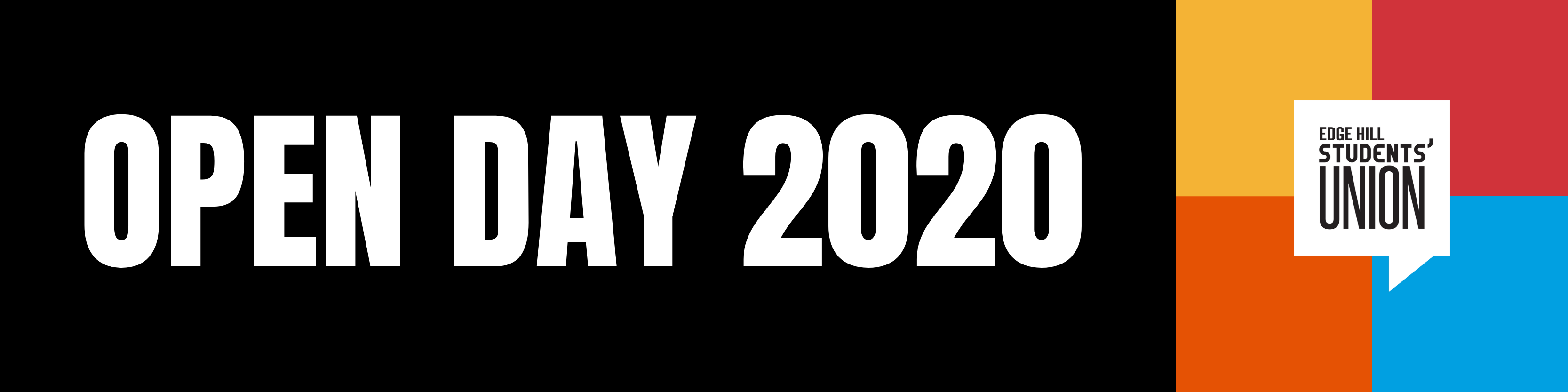Web Banner: Open Day 2020