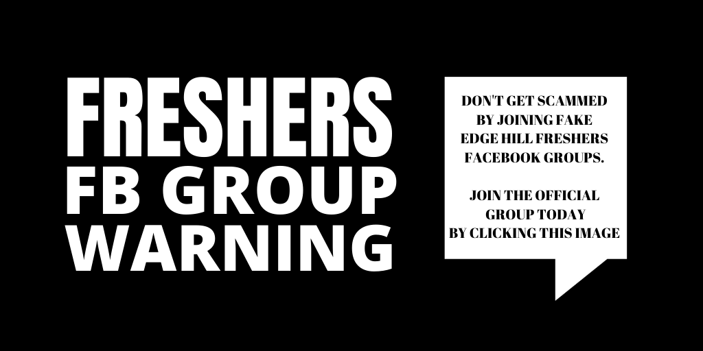 Freshers Facebook Group Warning. Don't get scammed by joining fake Edge Hill freshers Facebook Groups. Join the office group today by clicking this image.
