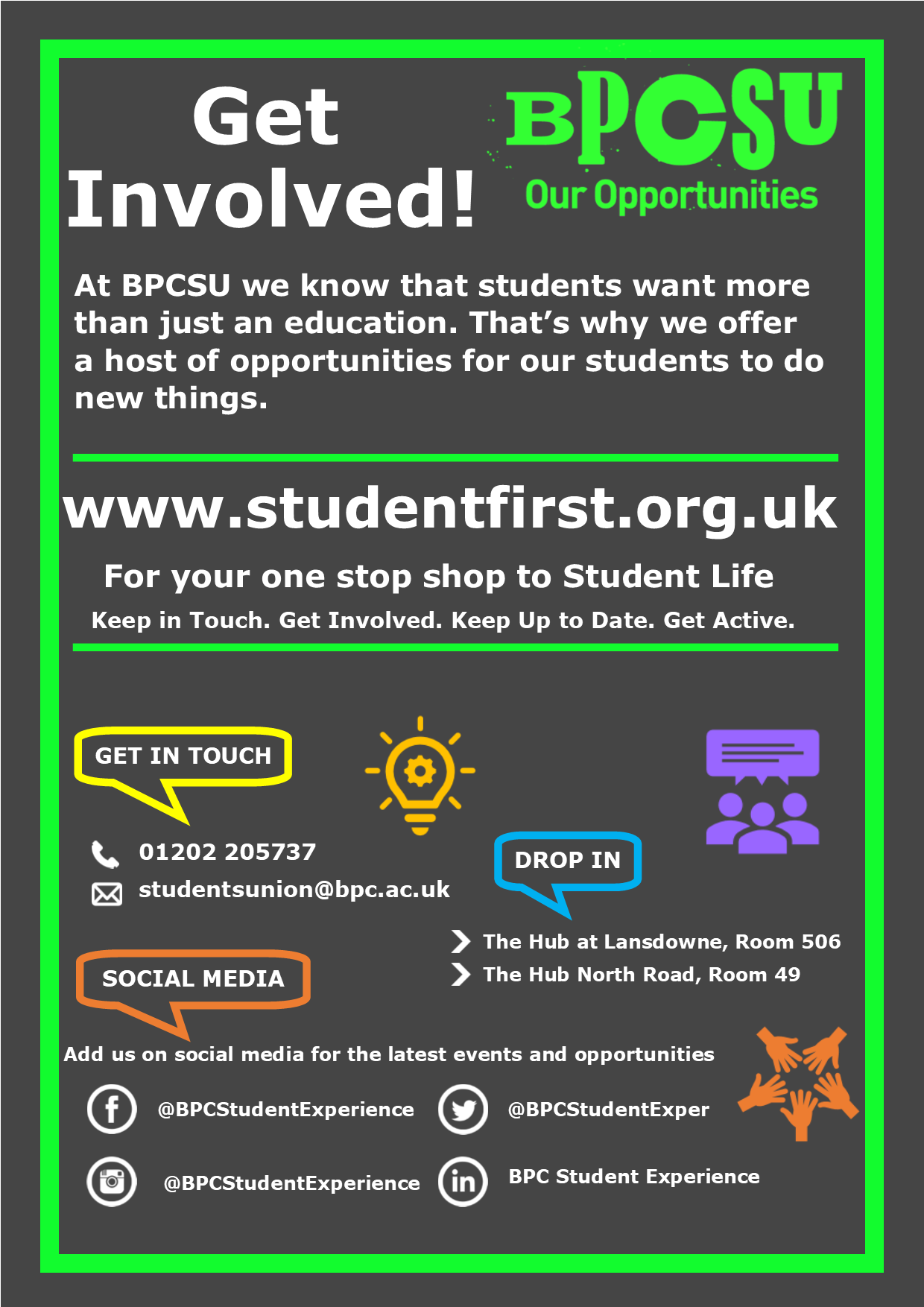 Get Involved Poster