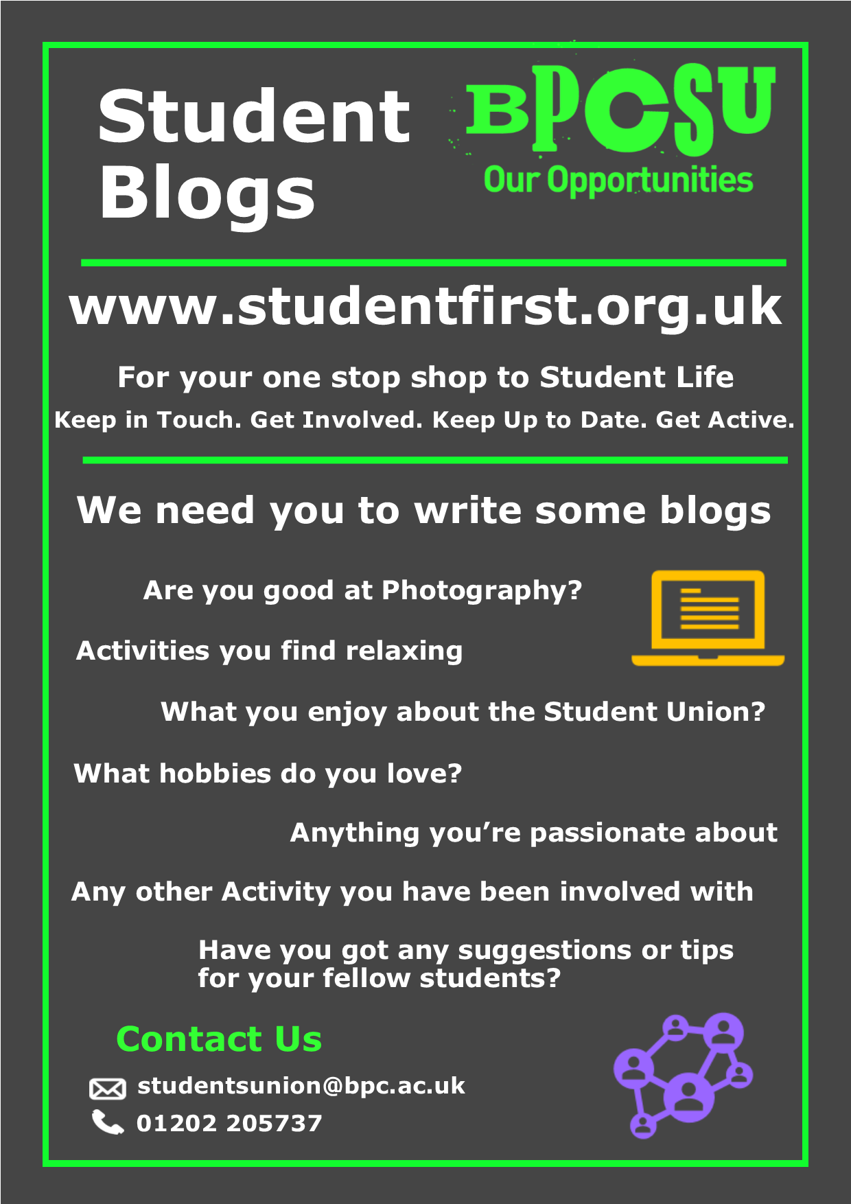 Student Blogs Poster