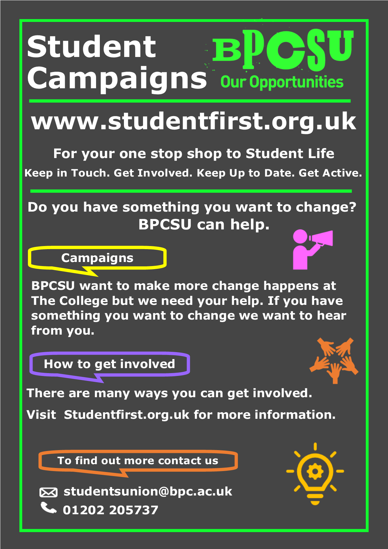 Student Campaigns Poster