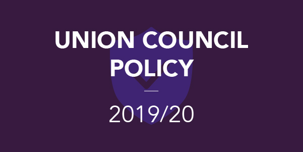 Union Council Policy 2019/20