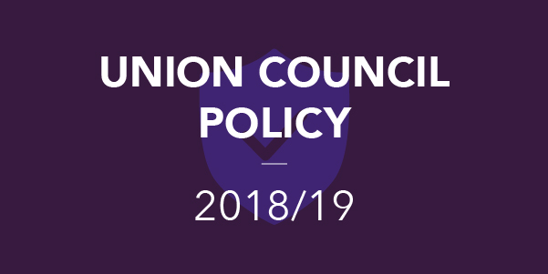 Union Council Policy 2018/19