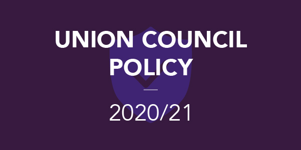 Union Council Policy 2020/21