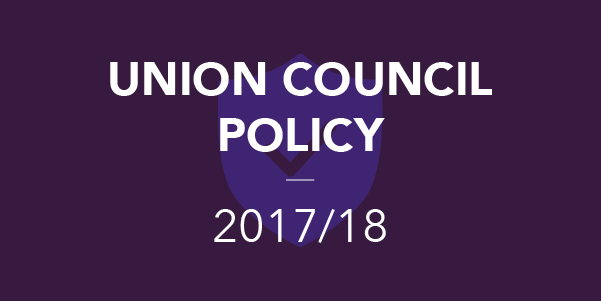 Union Council Policy 2017/18