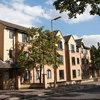 Warneford Hall - roadside 3 story red brick buildings