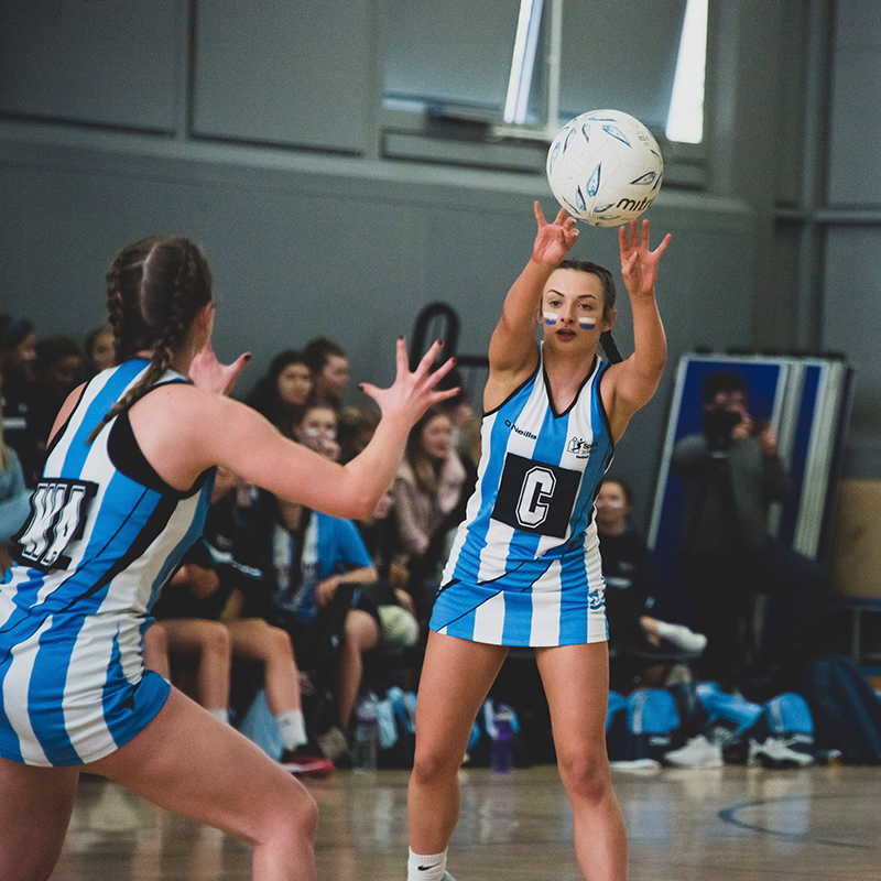 Picture of students playing Netball at the West London Varsity 2019