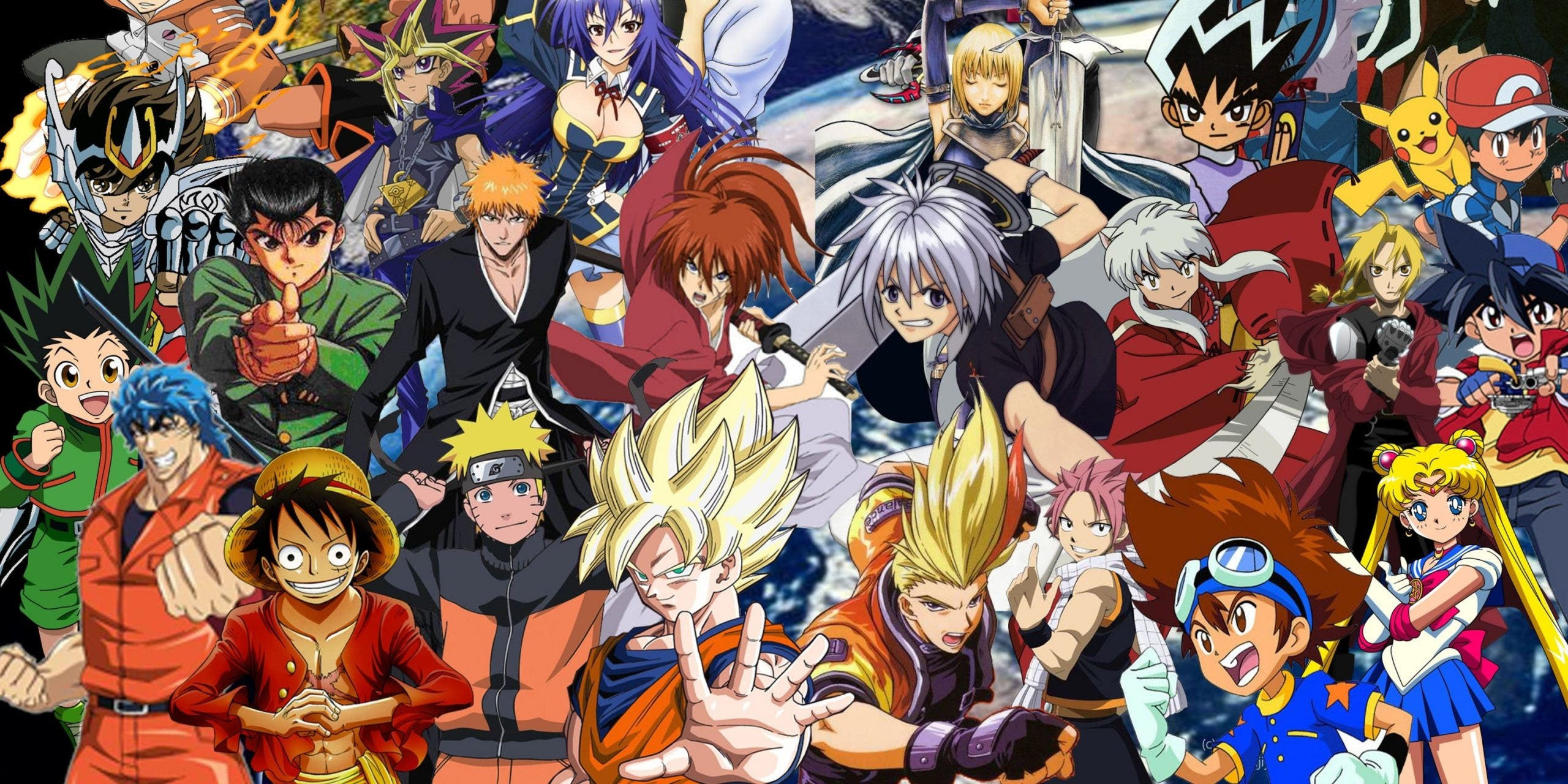Montage of Anime Characters