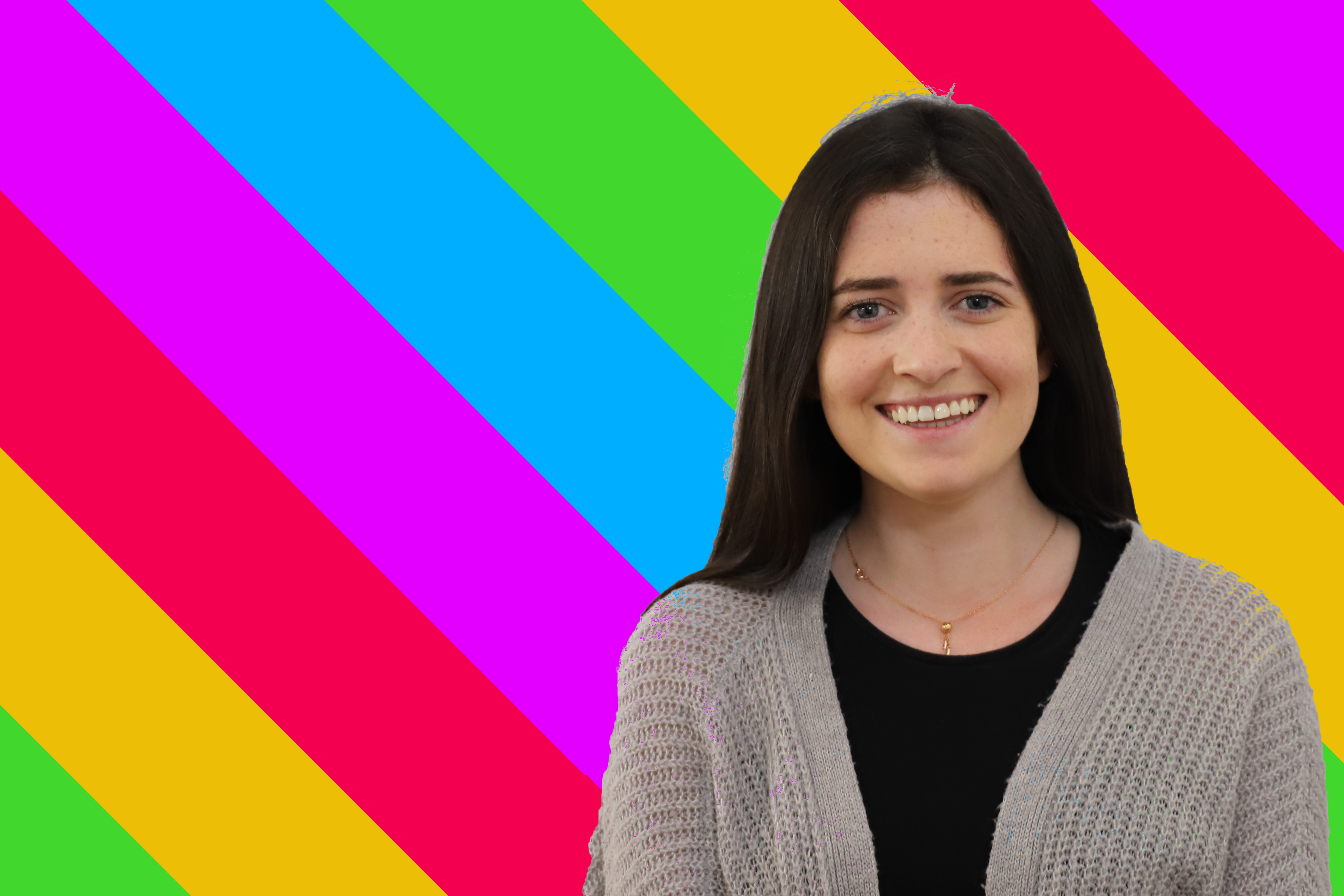 SMSU branded image of rainbow stripes