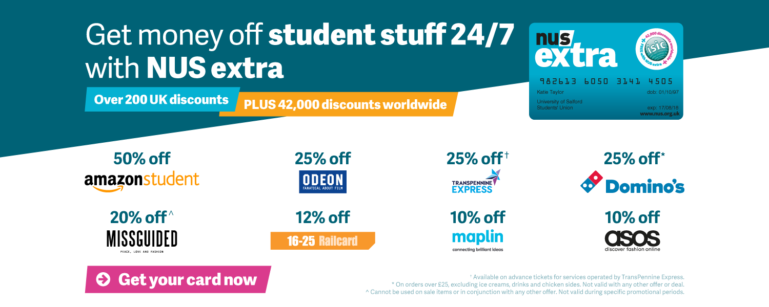 Find out more about NUS extra