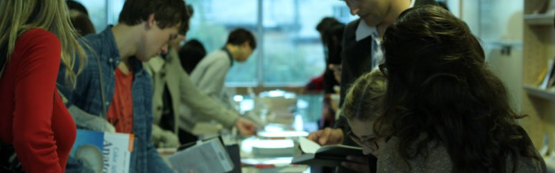 Image of student book fair and stalls