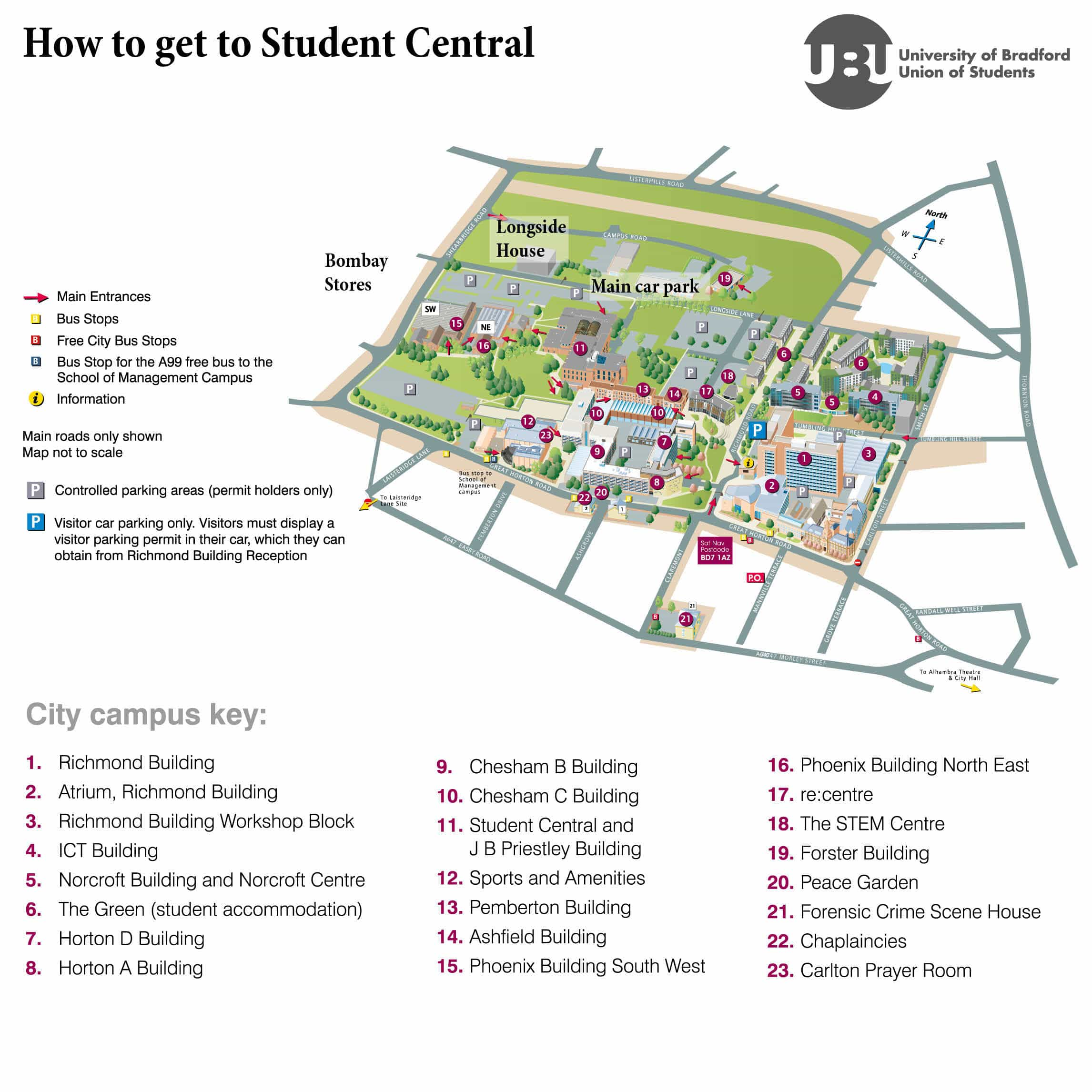 How To Find Us University of Bradford Union of Students