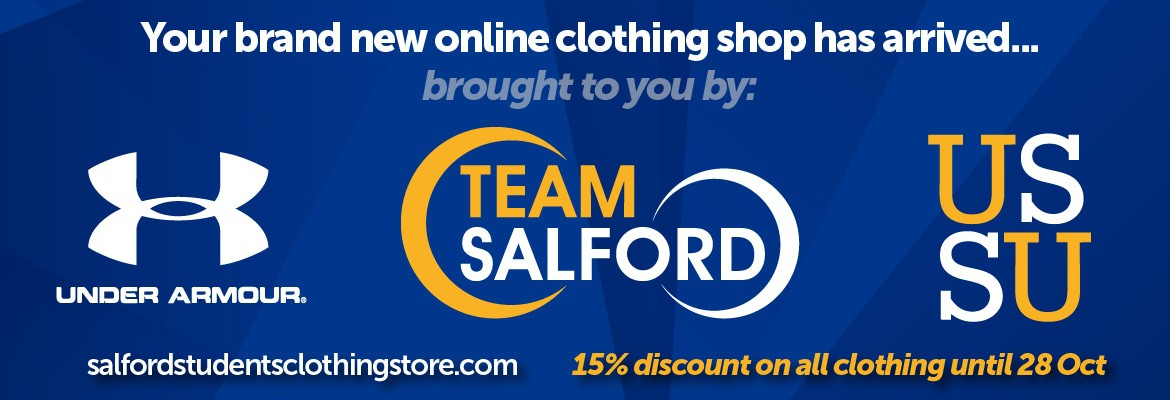Team Salford and USSU clothing store