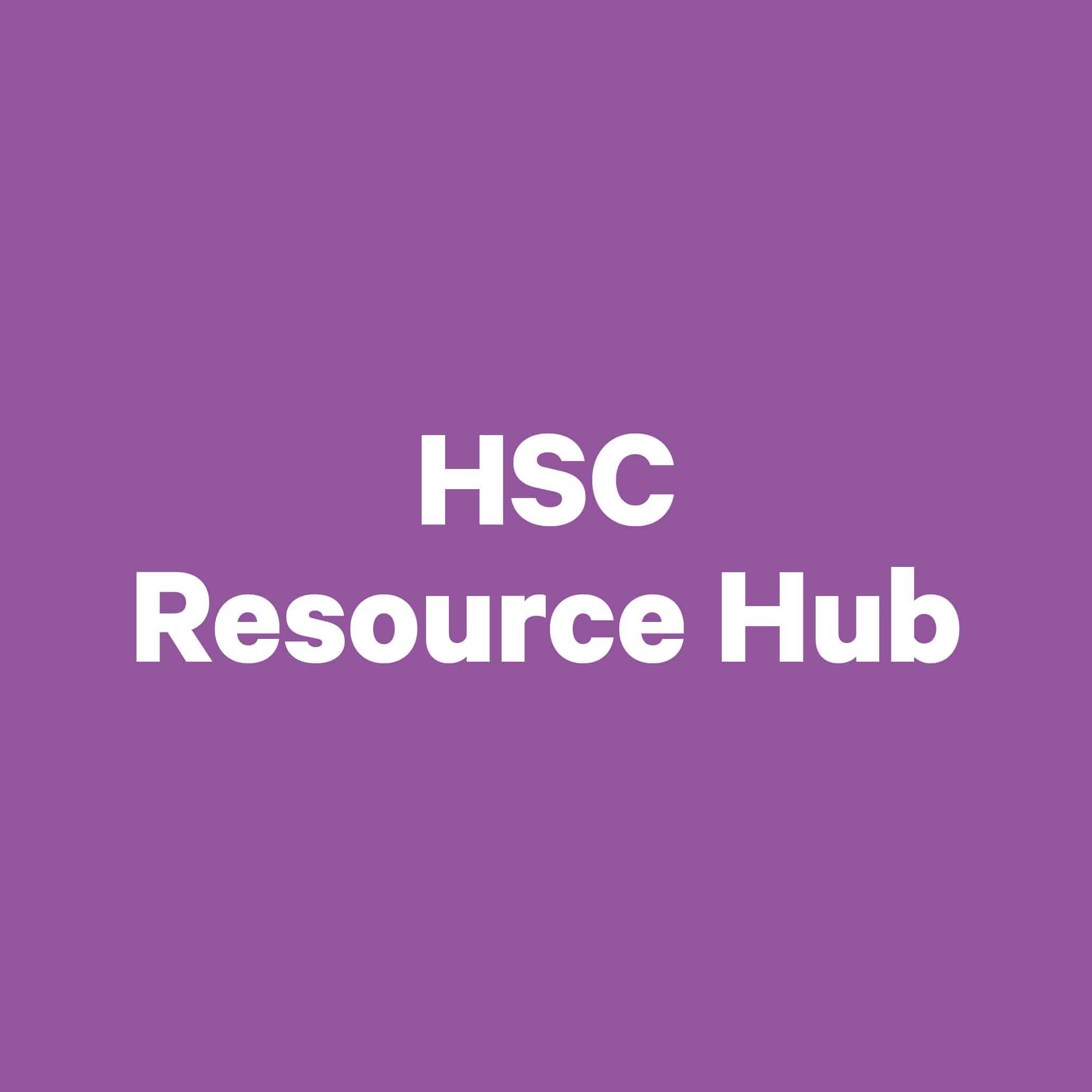 HSC Resource hub