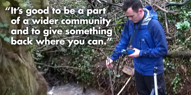 It's good to be part of a wider community and to give something back where you can