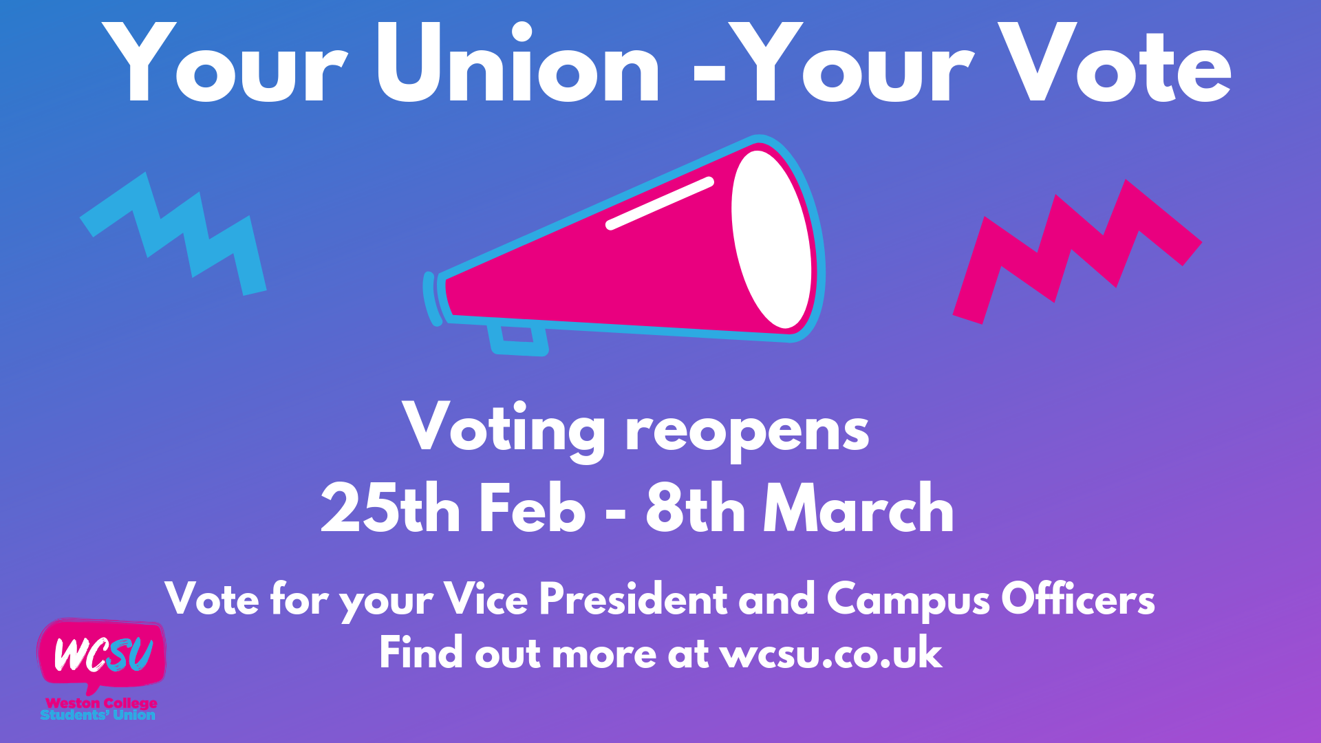 Your union your vote reopen