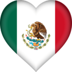 Mexican flag heart